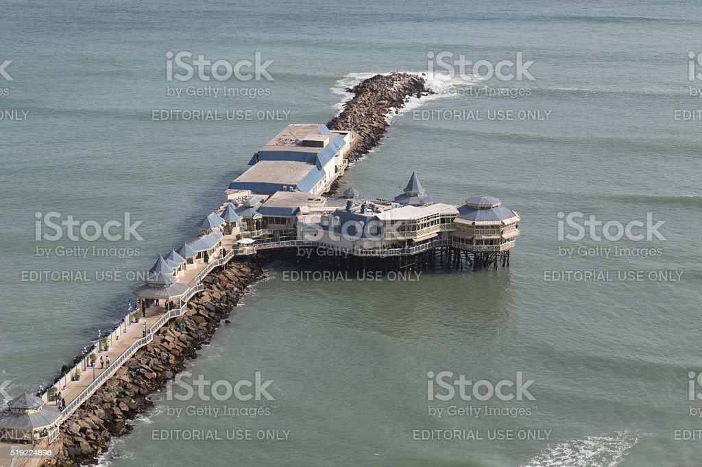 Restaurant La Rosa Nautica in Lima, Peru stock photo