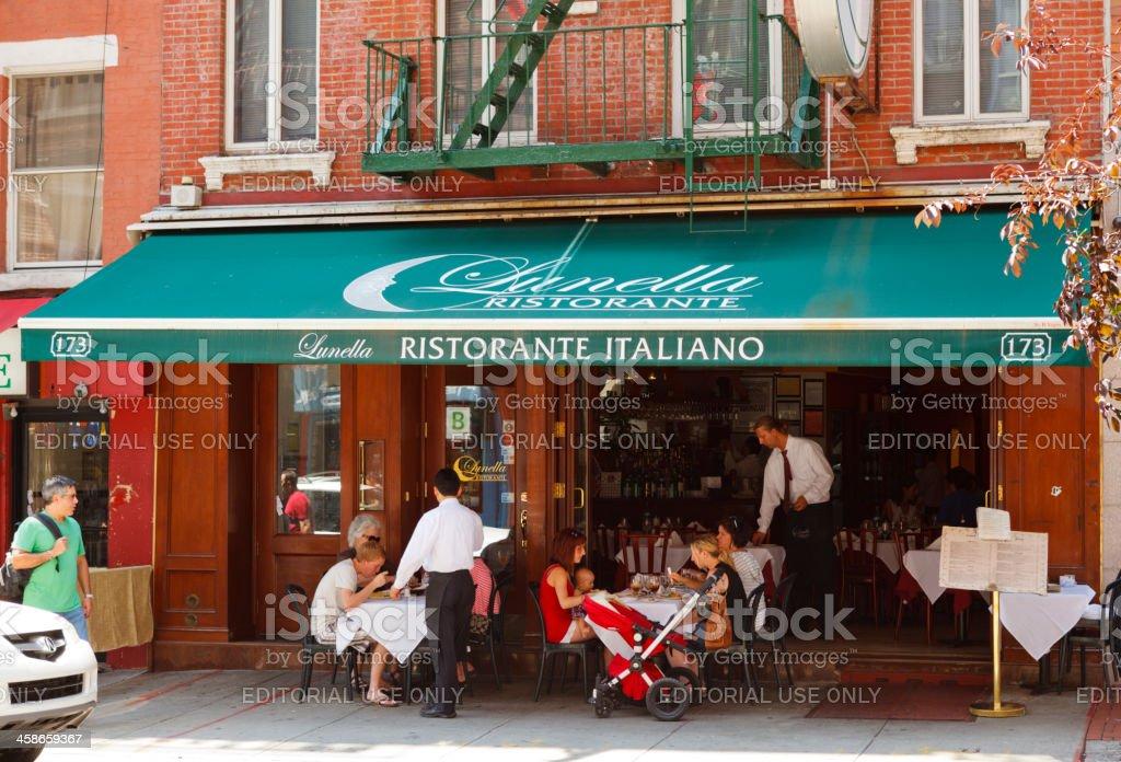 Restaurant Little Italy New York City Stock Photo Download