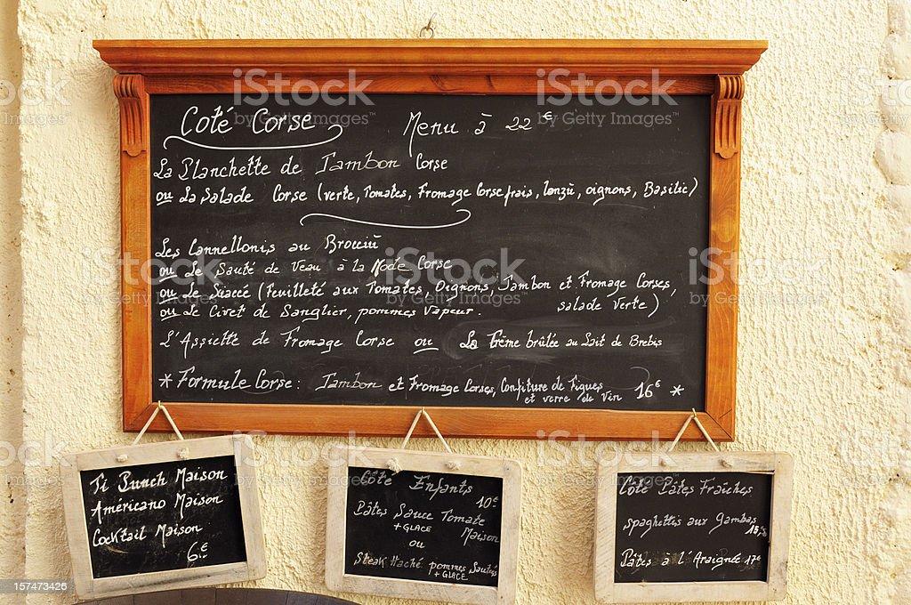 Menu du Restaurant - Photo