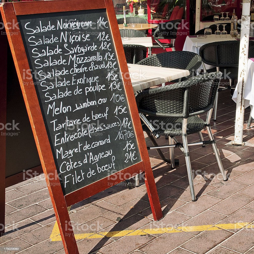 Restaurant Menu royalty-free stock photo