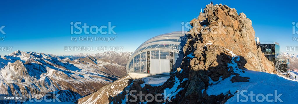 Restaurant on Gaislachkogl and Gailachkoglbahn in Sölden, Austria stock photo