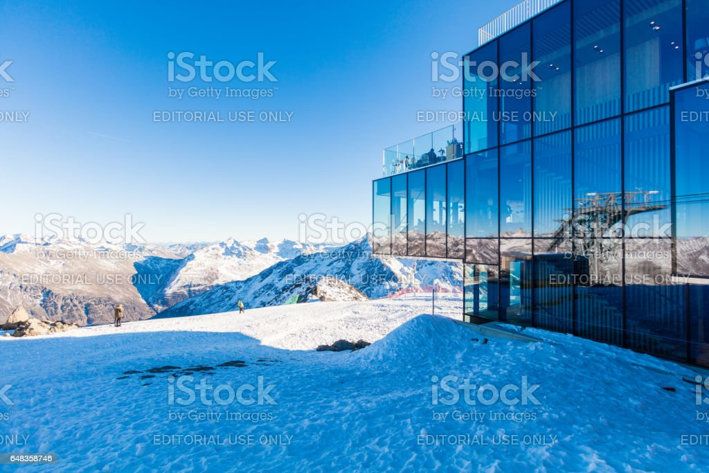 Restaurant on Gaislachkogl in Sölden, Austria stock photo