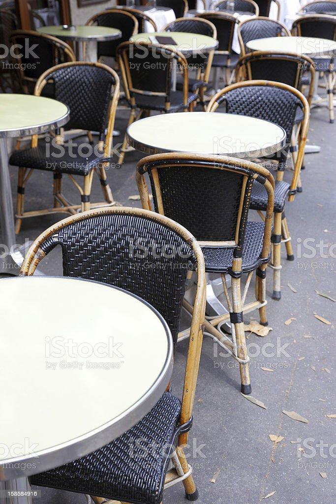 restaurant on the sidewalk royalty-free stock photo