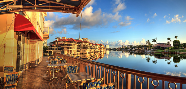 istock Restaurant on the water along the Village at Venetian Bay 1040100978