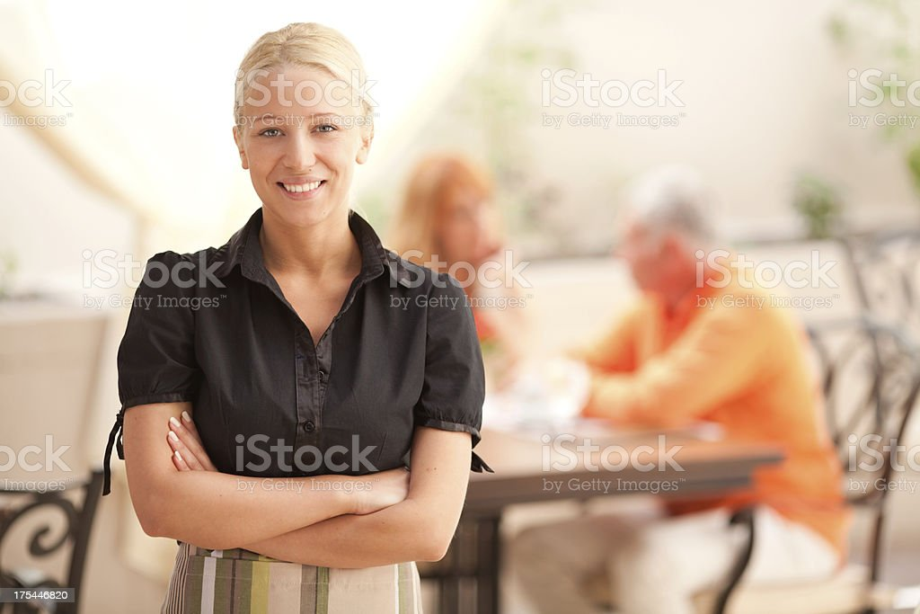 Restaurant owner royalty-free stock photo