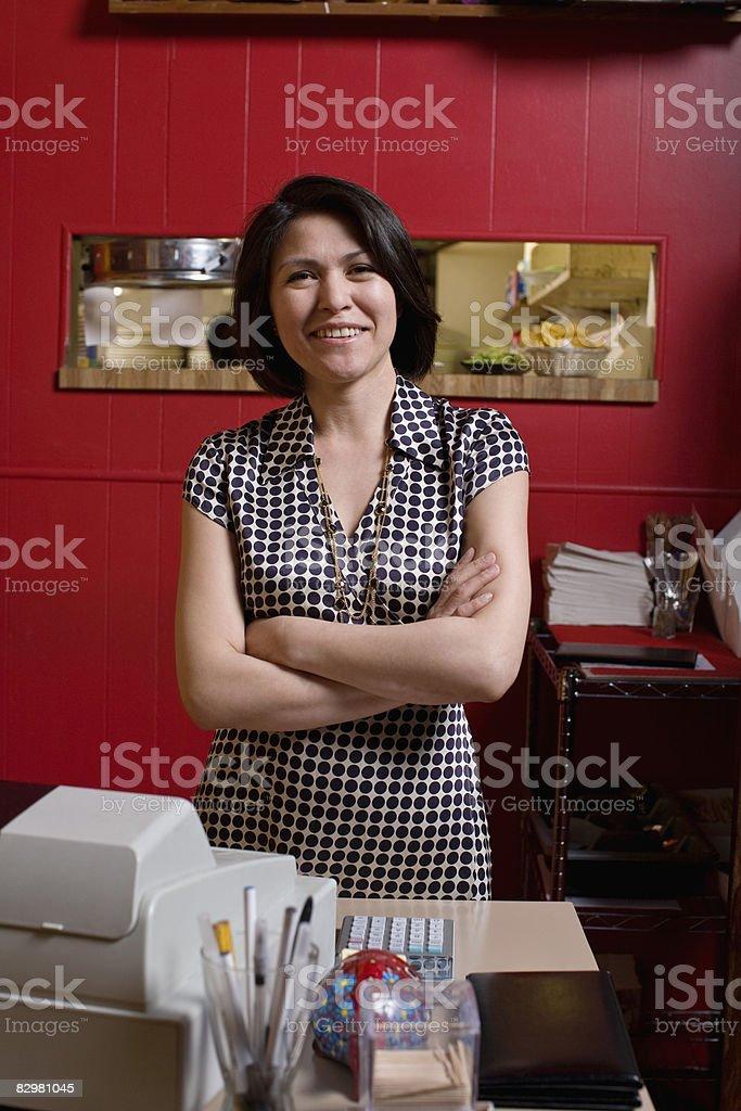 restaurant owner royaltyfri bildbanksbilder