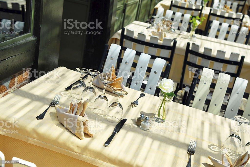 Restaurant patio royalty-free stock photo