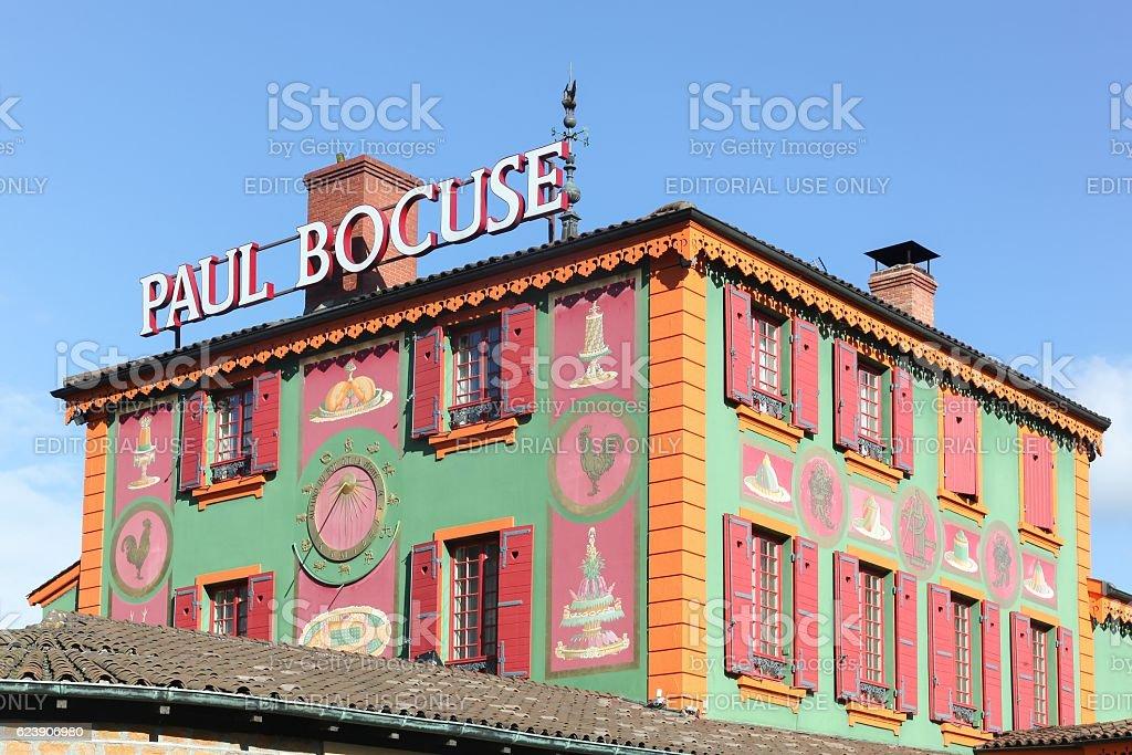 Restaurant Paul Bocuse in Lyon stock photo