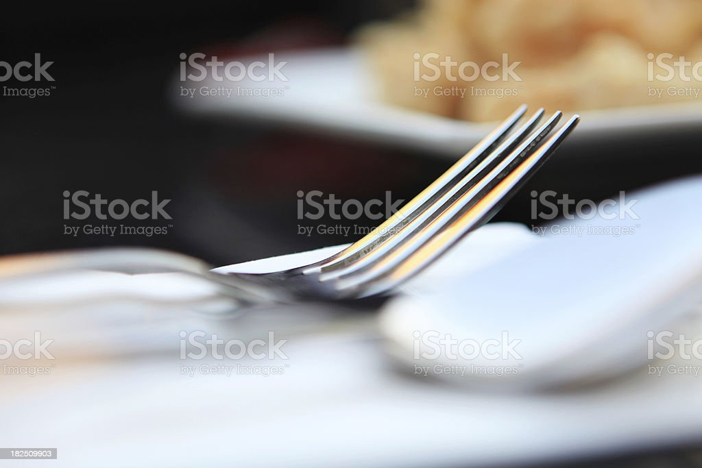 restaurant place setting royalty-free stock photo