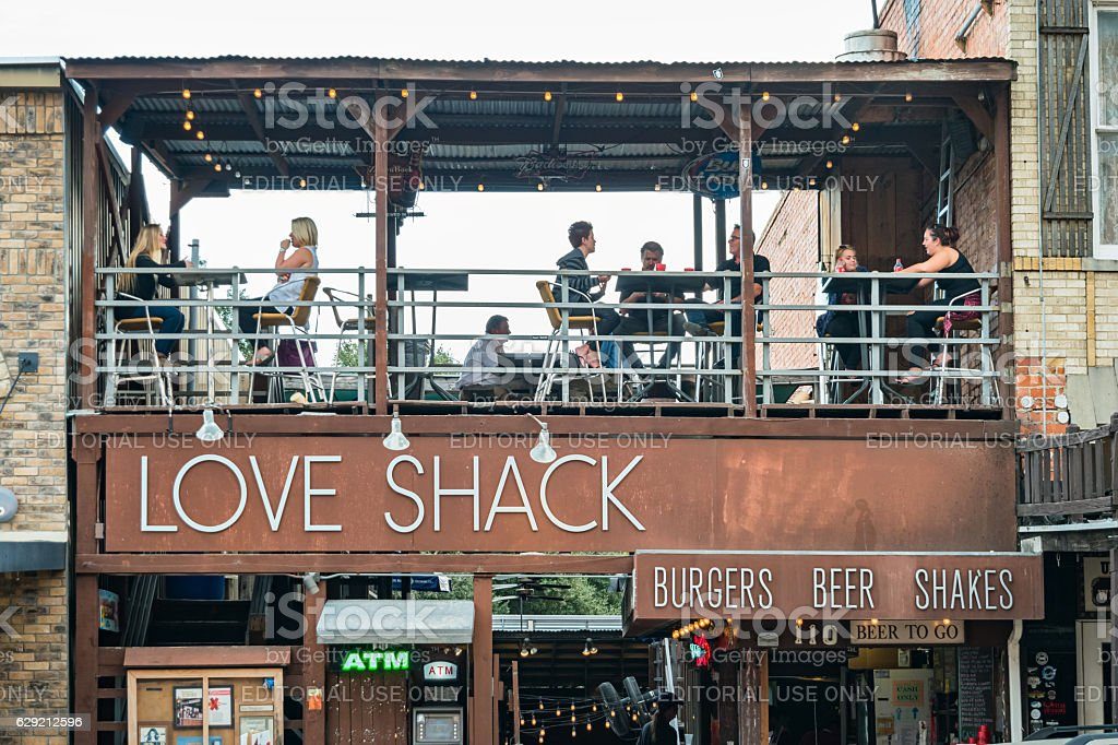 Restaurant Pub at the Stockyards in Fort Worth Texas stock photo