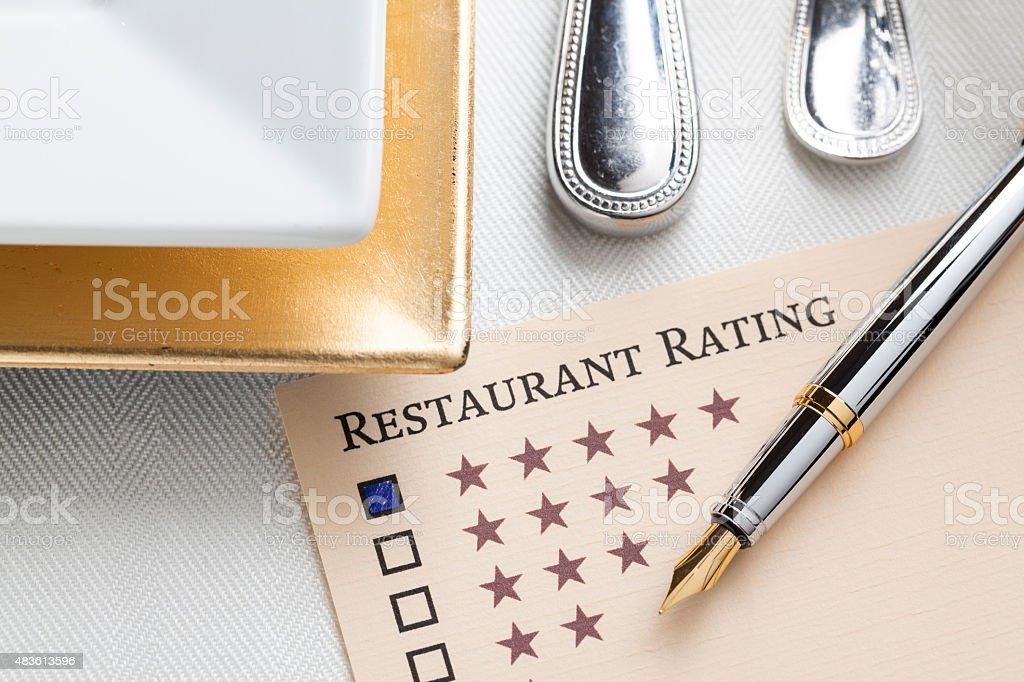 Restaurant Rating stock photo