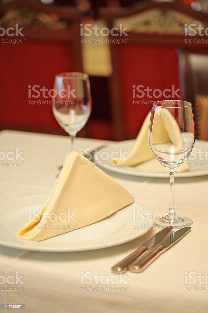Restaurant setting royalty-free stock photo
