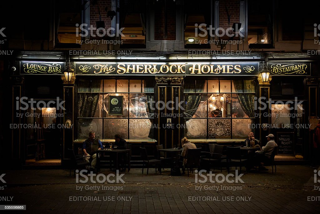 Restaurant 'Sherlock Holmes' in London stock photo