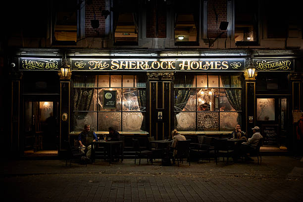 """restaurant """"sherlock holmes"""" in london - sherlock holmes stock photos and pictures"""