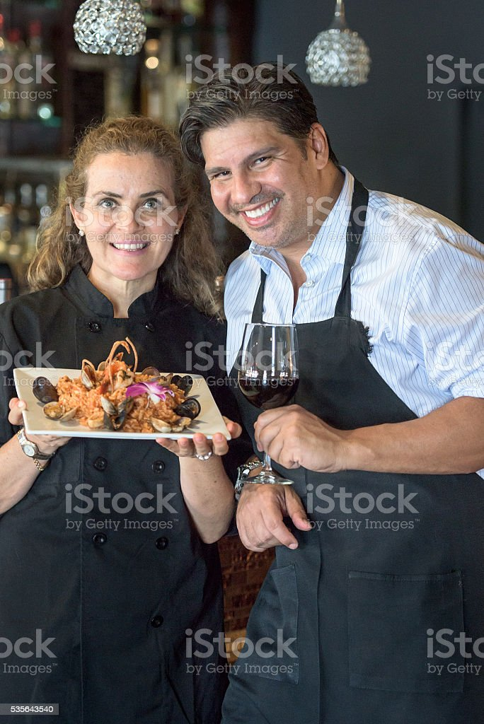 Restaurant Small Business Owners stock photo