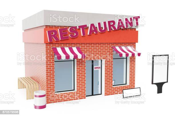 Restaurant store with copy space board isolated on white background picture id870579598?b=1&k=6&m=870579598&s=612x612&h=x jb0y57pcp547yvrb s8otgoxycraqlipo83uim5 k=