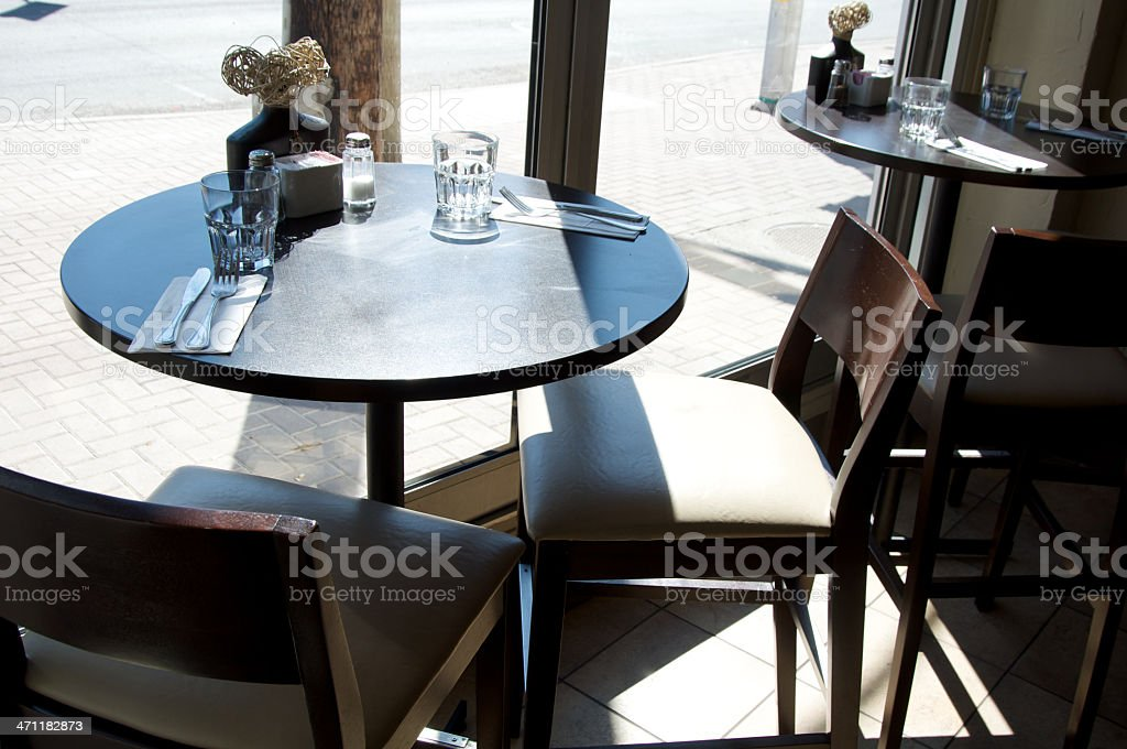 Restaurant Table and Chairs royalty-free stock photo
