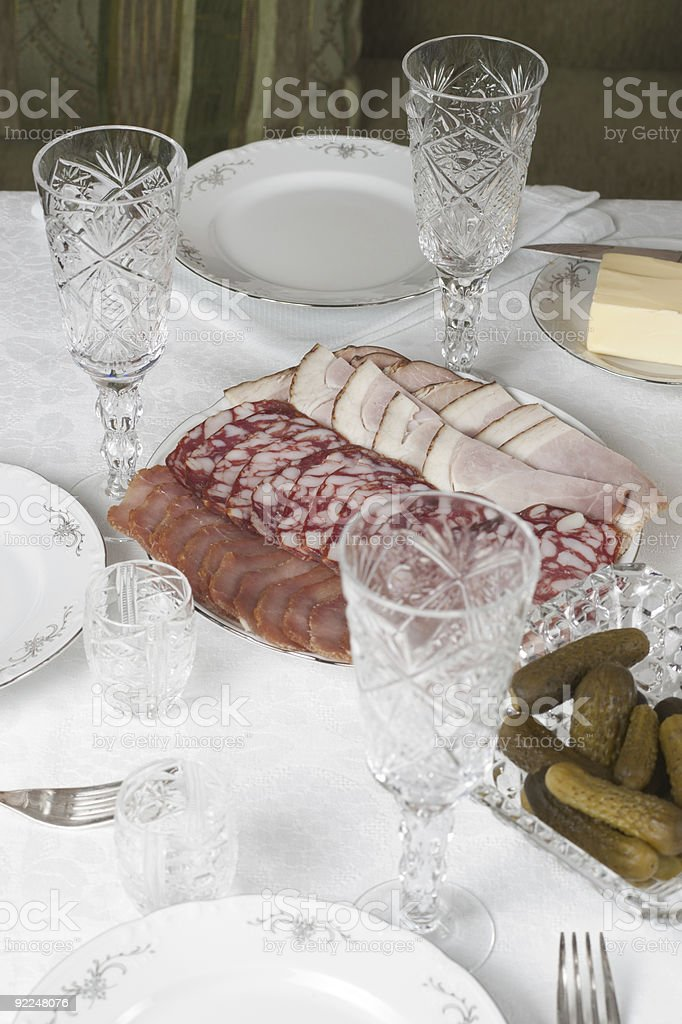 Restaurant table arrangement royalty-free stock photo