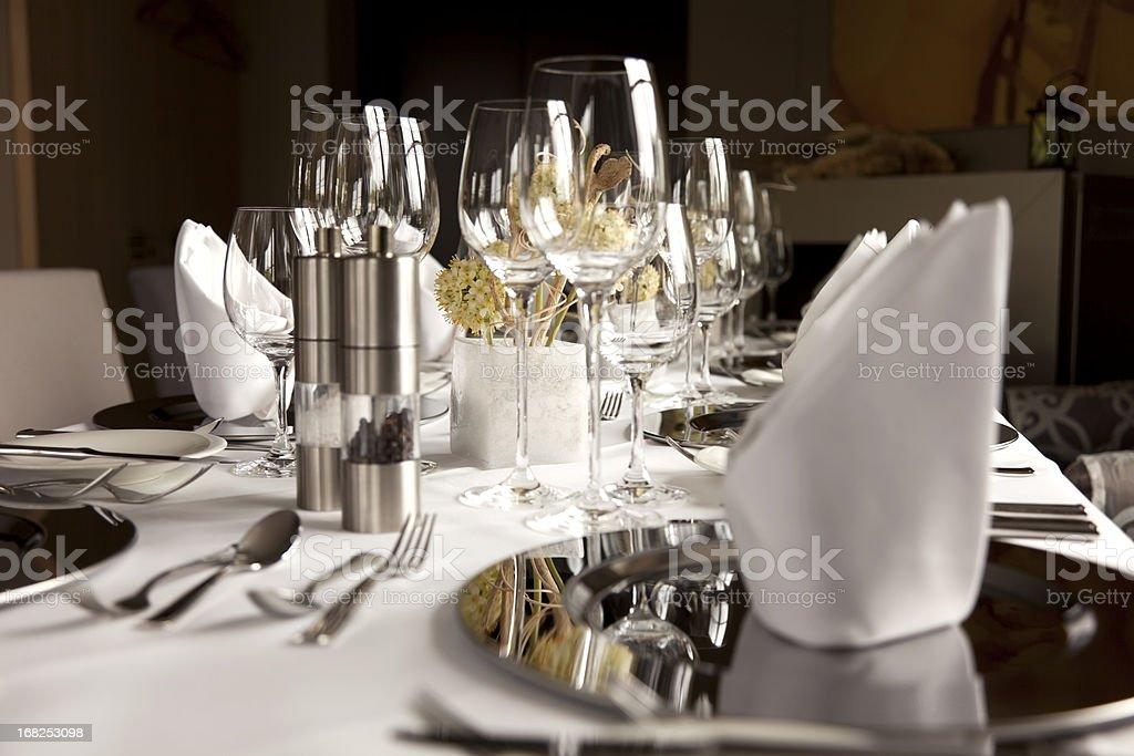 Tavolo al ristorante - foto stock