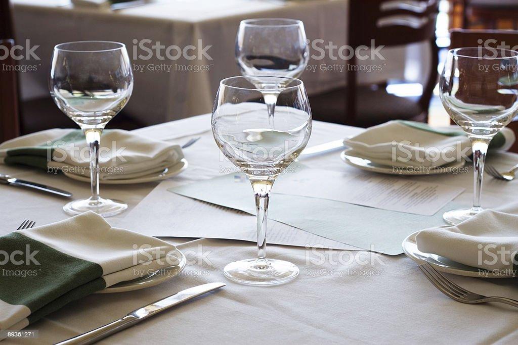 Restaurant Table royalty free stockfoto