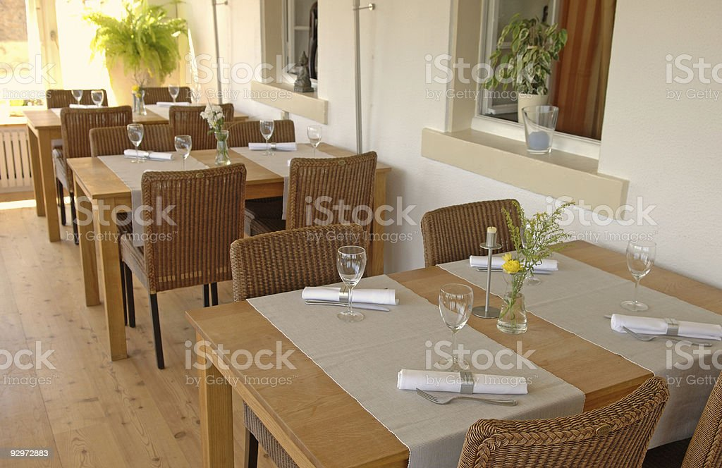 restaurant table #1 royalty-free stock photo