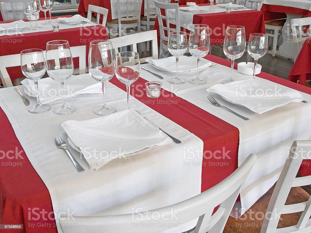table du Restaurant photo libre de droits