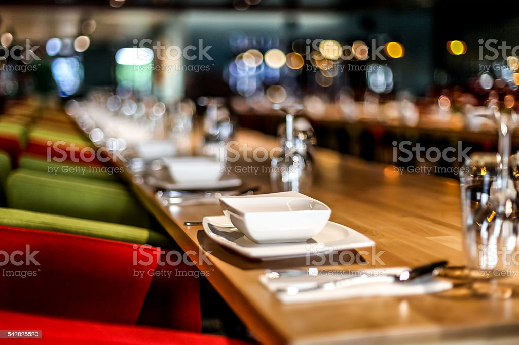 Restaurant Table Setting stock photo : table setting for restaurant - Pezcame.Com