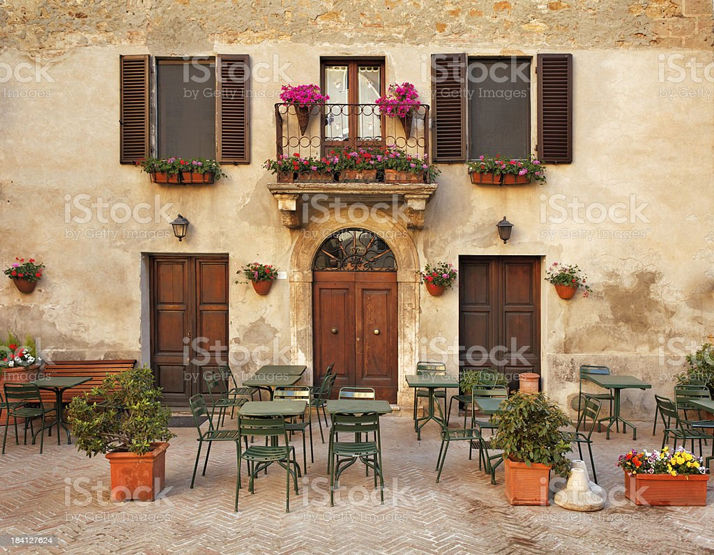 Restaurant tables in Italy royalty-free stock photo
