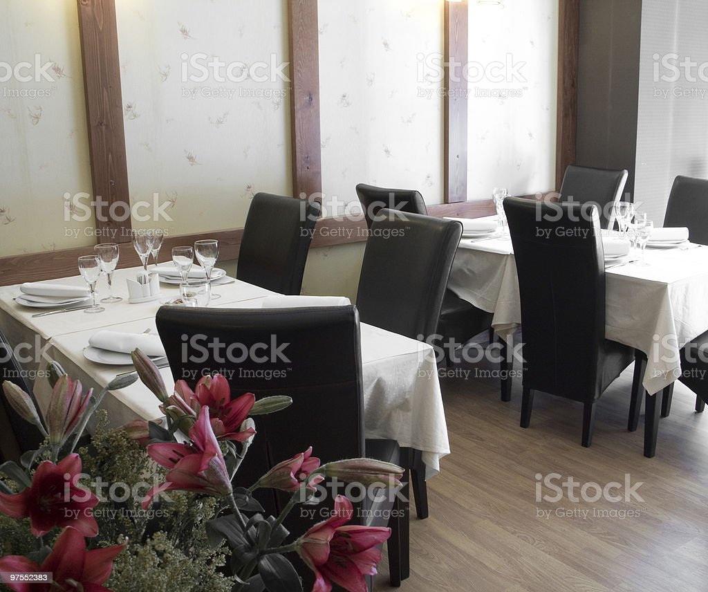 Restaurant tables royalty-free stock photo
