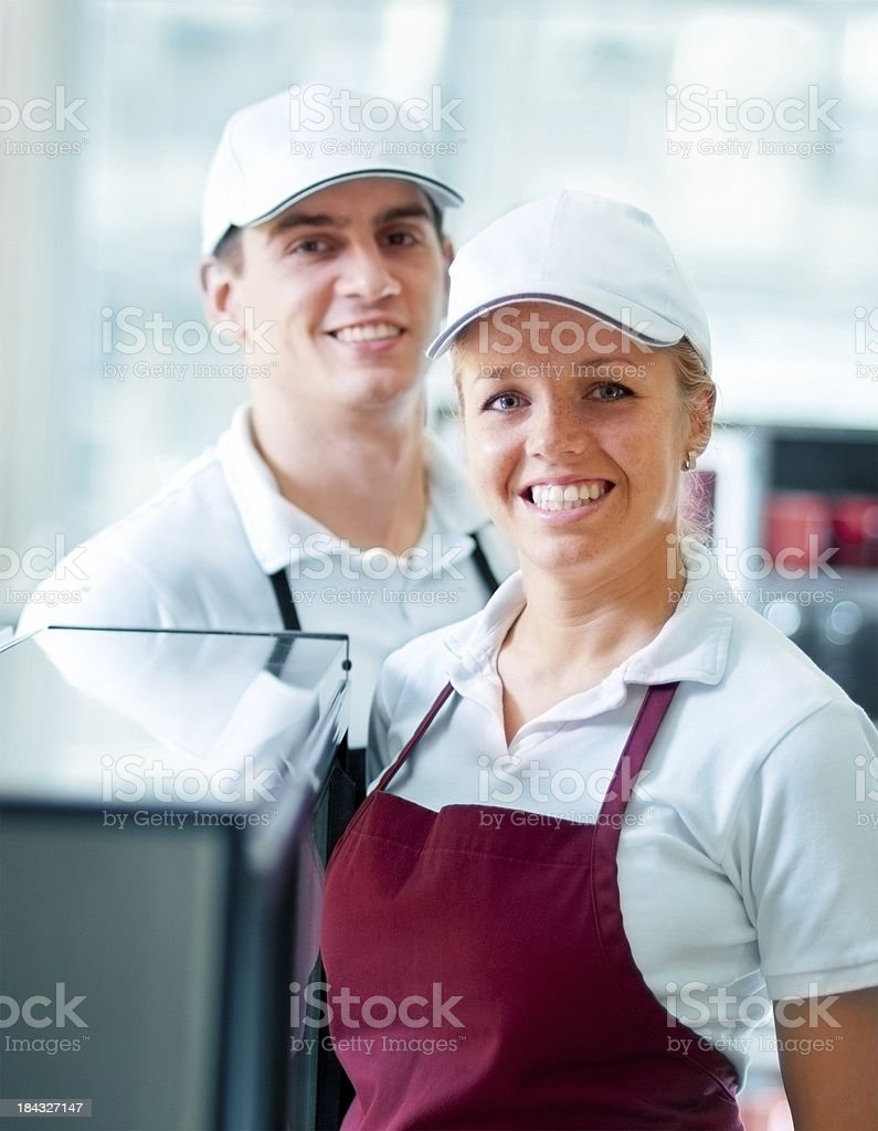 Restaurant workers stock photo
