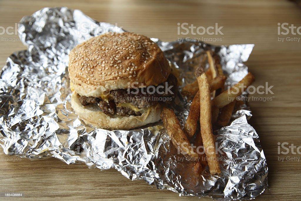 Restaurants: Cheeseburger and Fries stock photo