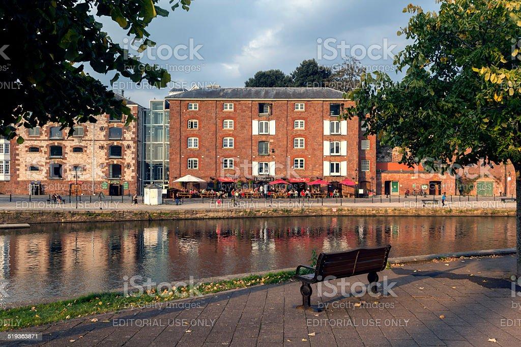 Restaurants On Historic Quayside At Exeter Devon Stock Photo More