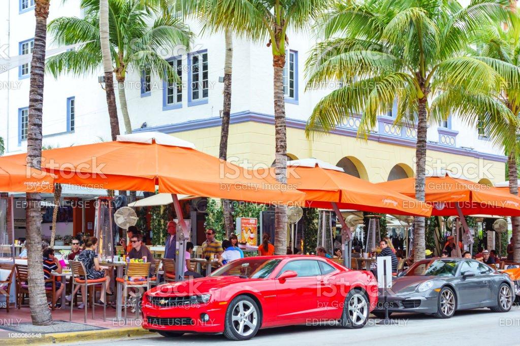 Restaurants On Ocean Drive In South Beach Miami Florida Usa