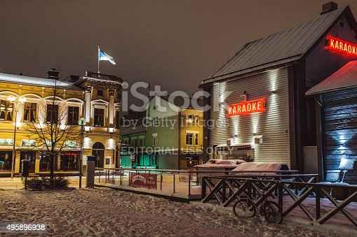 istock Restaurants on town square in Oulu Finland 495896938