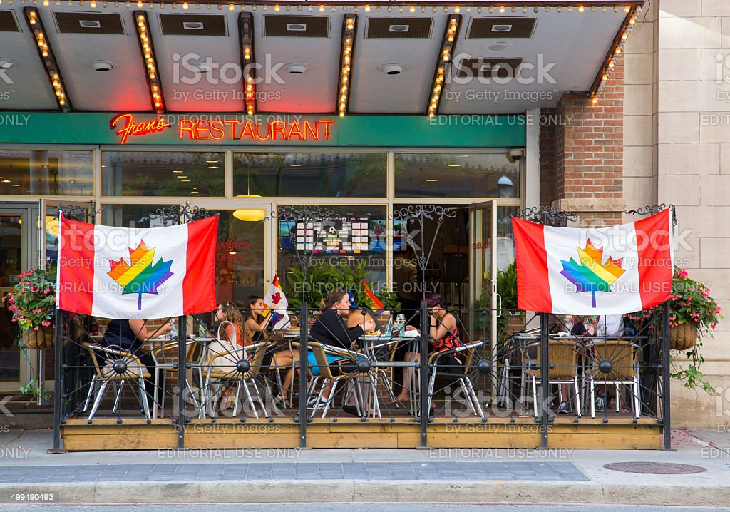 Restaurants Showing Support for World Pride stock photo