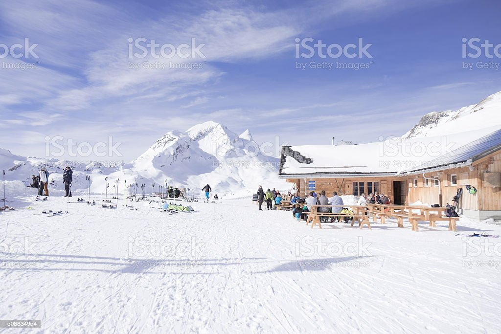 Resteraunt in Grindelwald stock photo