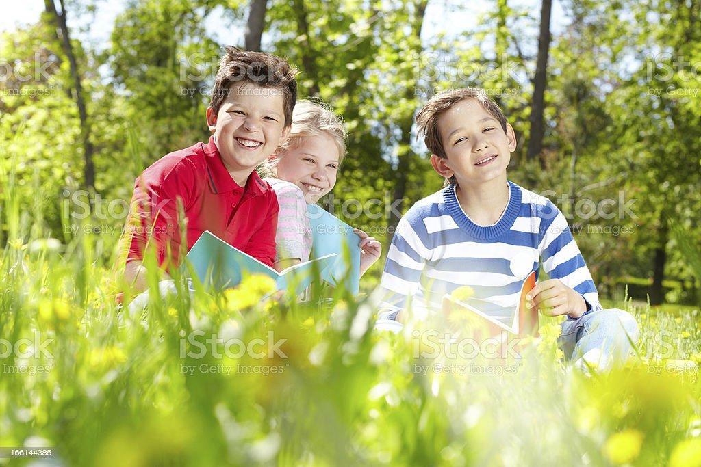 Restful kids royalty-free stock photo