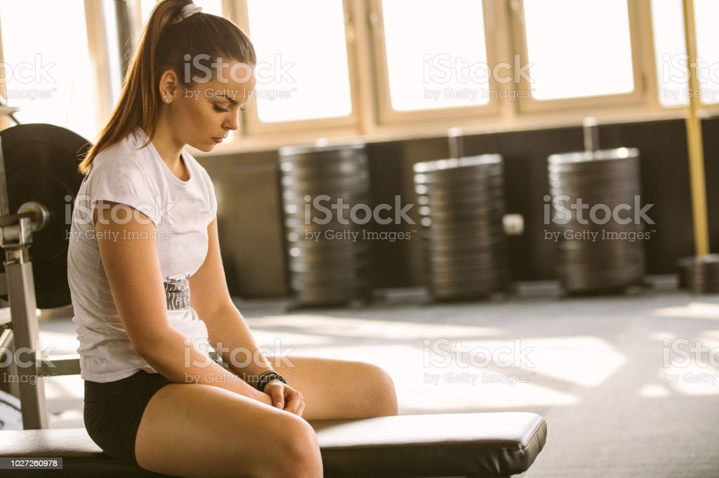 Resting after a workout royalty-free stock photo