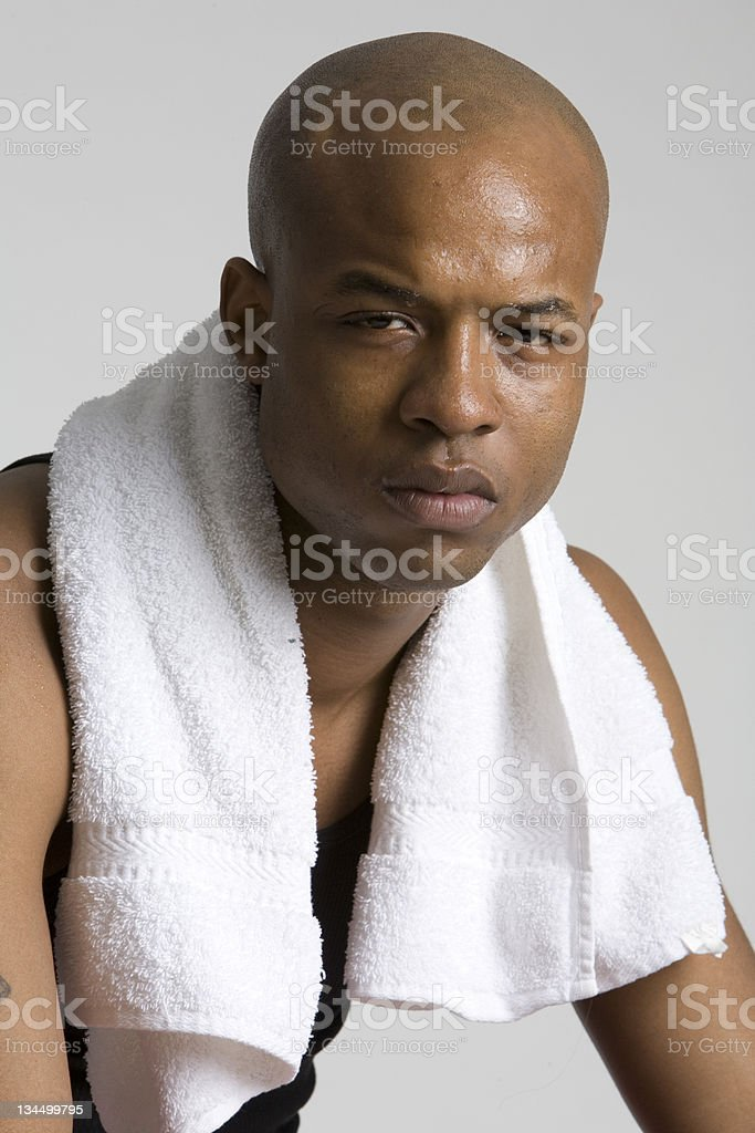 Resting after excersize royalty-free stock photo