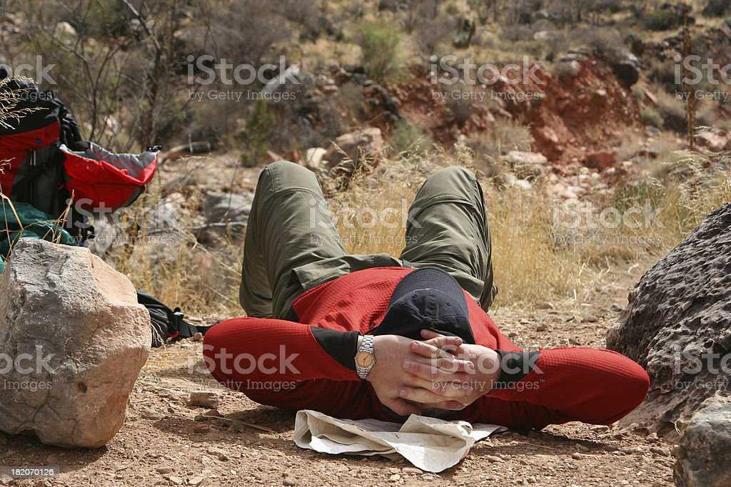 Resting after Long Hike royalty-free stock photo
