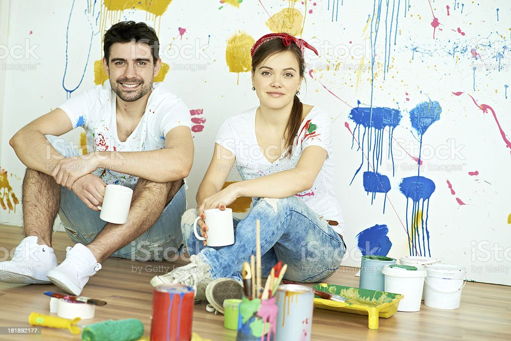Resting after repairs royalty-free stock photo