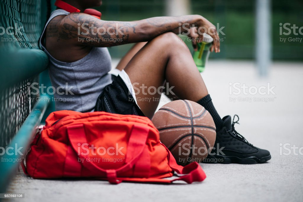 Resting after sport activity stock photo