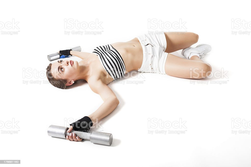 Resting after training royalty-free stock photo
