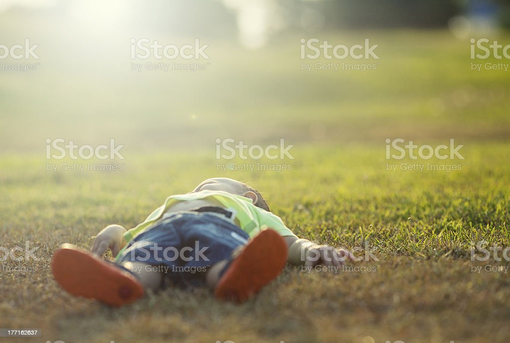Resting Baby royalty-free stock photo