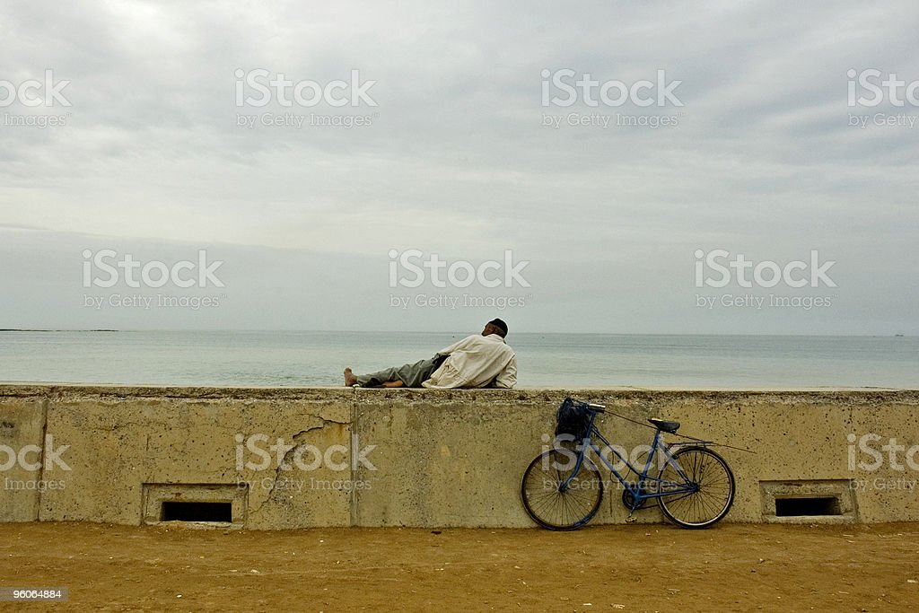 Resting by the Atlantic royalty-free stock photo