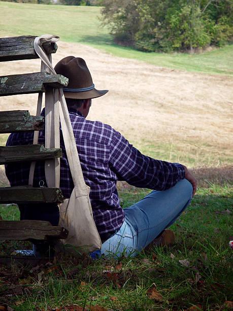 Resting Cowboy stock photo