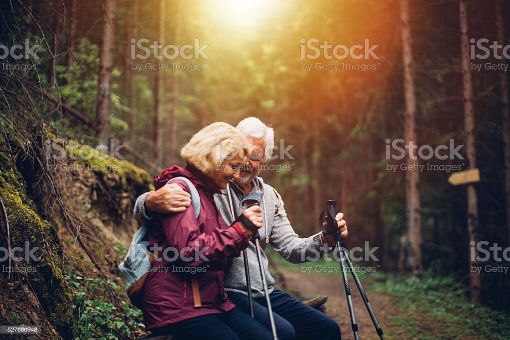 Resting during the hike royalty-free stock photo