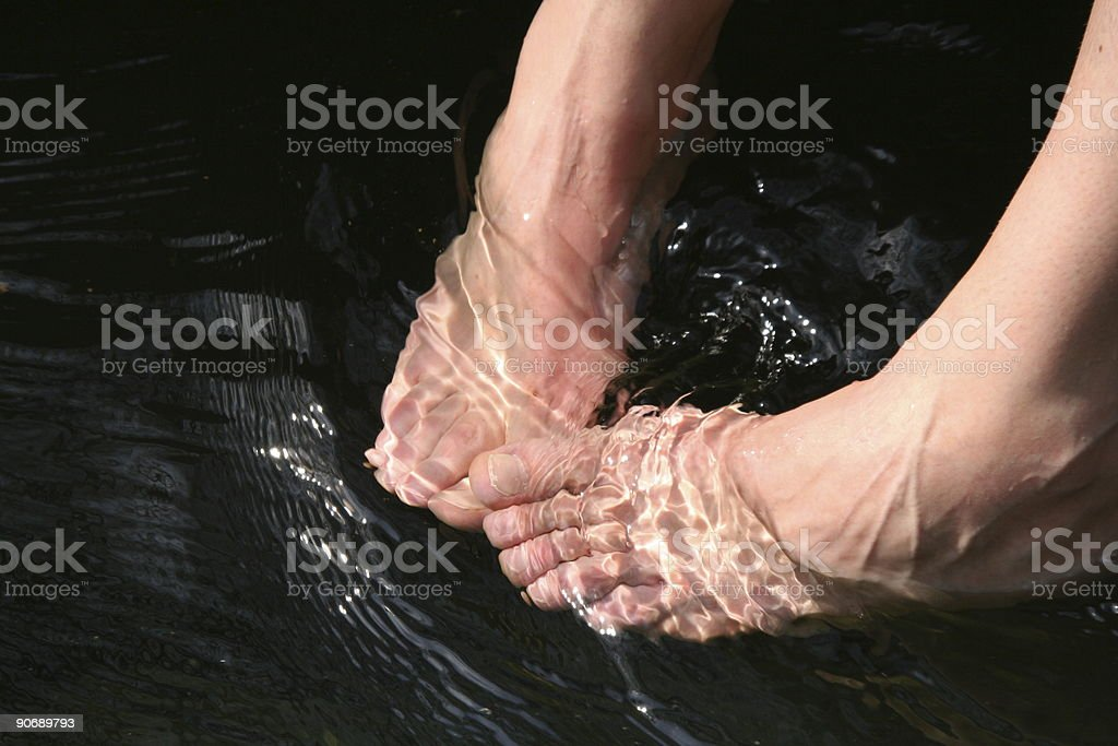 Resting Feet royalty-free stock photo