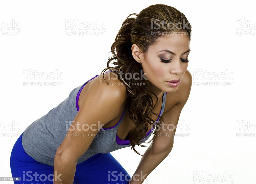 Resting fitness woman royalty-free stock photo
