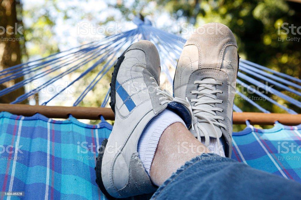 resting in hammock royalty-free stock photo